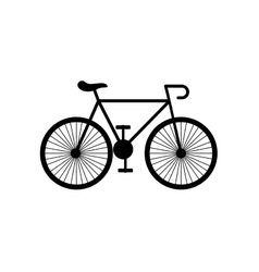 bicycle vehicle retro icon vector image
