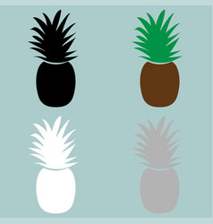 nature color pineapple icon vector image