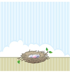 nest vector image vector image