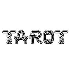tarot logo lettering celtic font norse medieval vector image