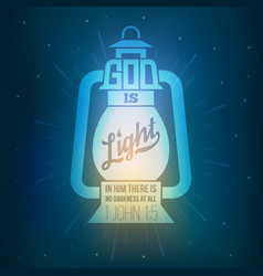 bible quotes god is light vector image vector image