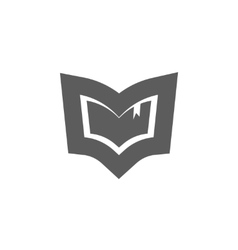 Book logo emblem isolated concept of vector image