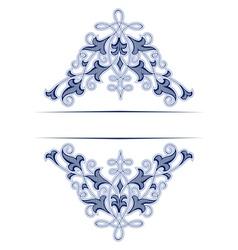 retro lace background vector image