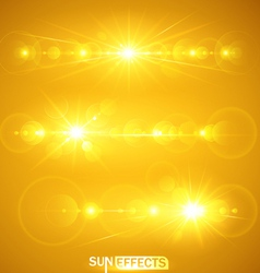 Sun effects vector image