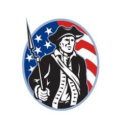 American Patriot Minuteman vector image vector image