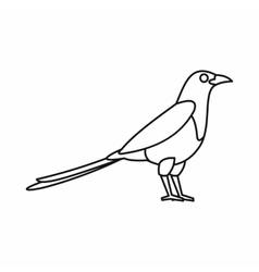 Bird magpie icon outline style vector image vector image