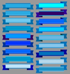 Blue ribbons and blue banners vector image vector image