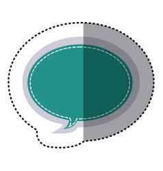 Color sticker oval bubble frame callout dialogue vector