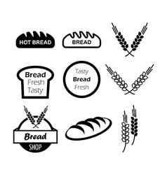 Icons of hot bread vector image vector image