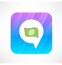 money in the bubble speech icon vector image