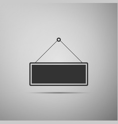 signboard flat icon on grey background vector image vector image