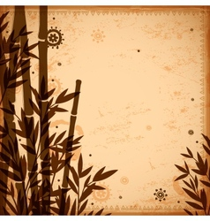 Bamboo vintage for your business vector image vector image