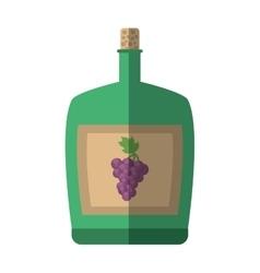 green big wine bottle liquid drink grape cork vector image vector image