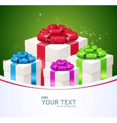 Greeting card of Gift boxes vector image