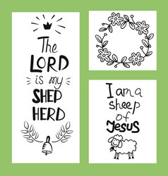 hand lettering the lord is my shepherd vector image vector image
