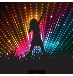 singer performing vector image