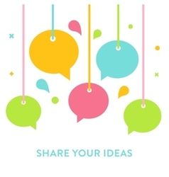 Speech Bubbles Hanging on Strings Communication vector image