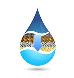 A drop of water symbol for filtering vector