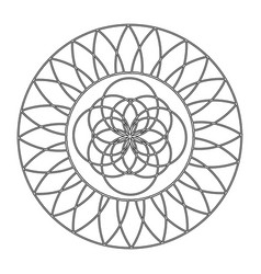 abstract cute mandala vector image