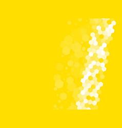 abstract yellow hexagonal background vector image