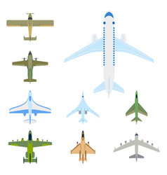airplane top view and aircraft vector image