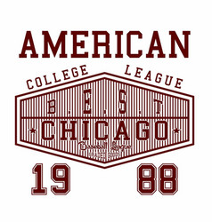 american college league vector image