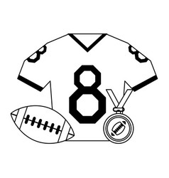 american football sport game black and white vector image
