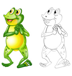 Animal outline for frog standing vector