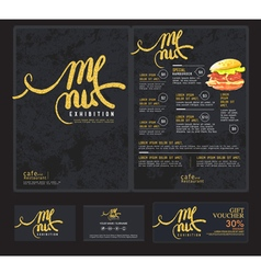 Art menu cafe vector image