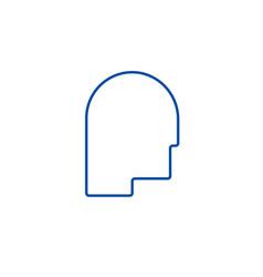 avatar head line icon concept avatar head flat vector image