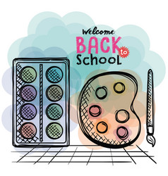 Back to school set icons drawings vector