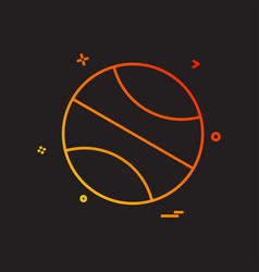 ball icon design vector image