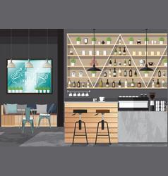 Bar interior design vector