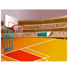 Basketball Court Stadium vector image