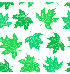 beautiful seamless doodle pattern with green vector image