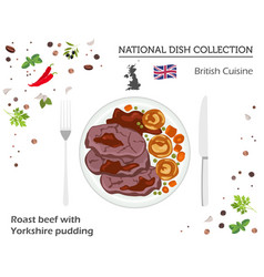 british cuisine european national dish collection vector image