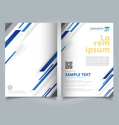 brochure template technology geometric blue color vector image