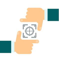 business focus concept vector image