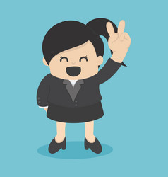 business woman confident two-finger lift vector image