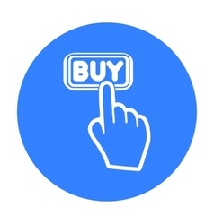 Buying click icon in black style isolated on white vector
