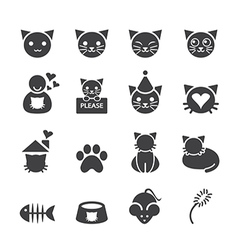 Cat icon vector