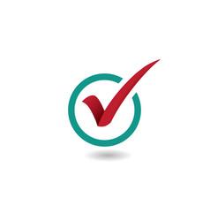 check mark design logo concept vector image