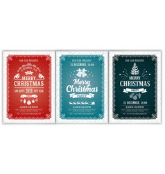 Christmas party layouts set vector
