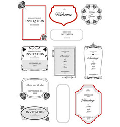 collection of frames and ornaments with sample vector image