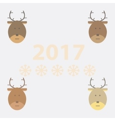 Collection of new year deer vector