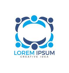 community people care logo design vector image