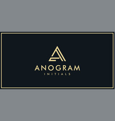 creative letters a golden logo design template vector image