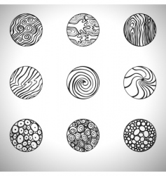 doodle elements vector image vector image