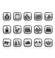 Election and political party icons vector