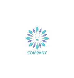 feathrs lion logo design vector image